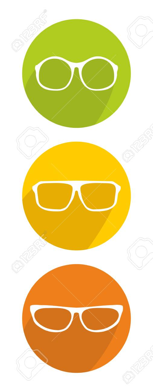 White glasses icon set isolated on white background Stock Vector - 29835836