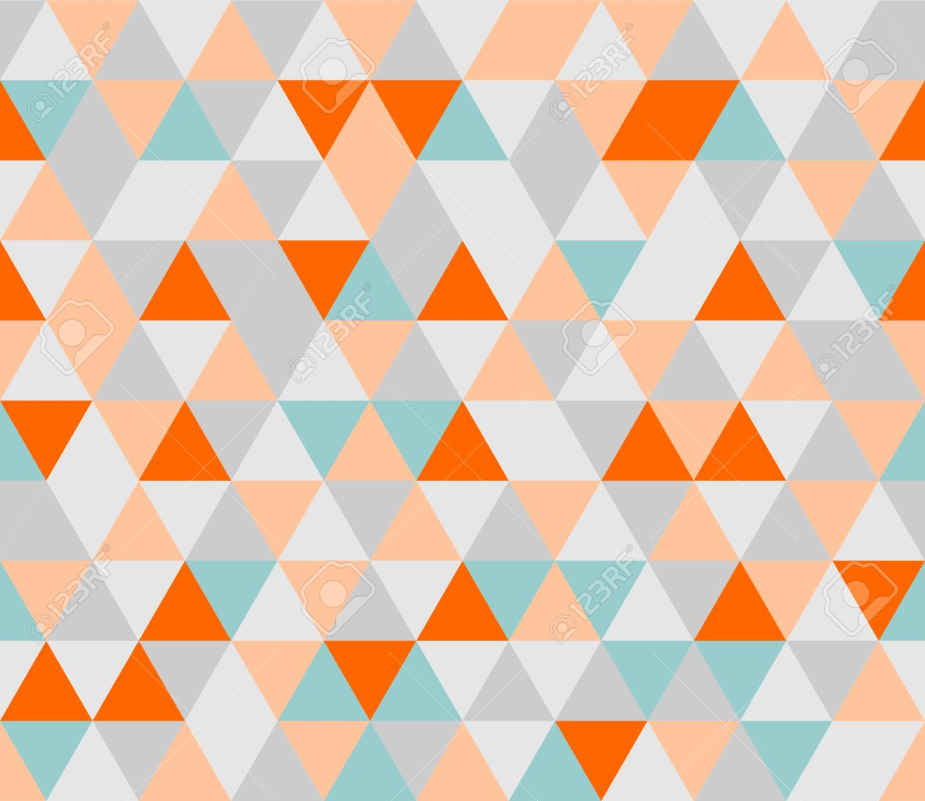 29896322 colorful tile vector background illustration grey orange pink and mint green triangle geometric mosa