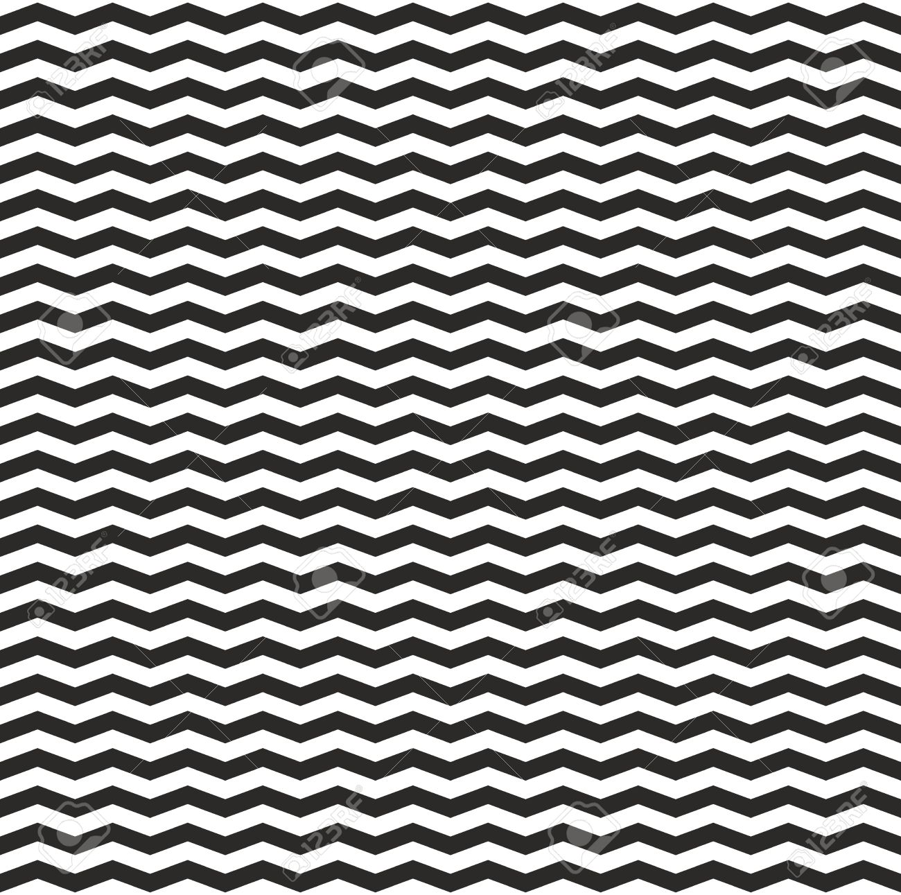Vector zig zag vector chevron black and white tile pattern