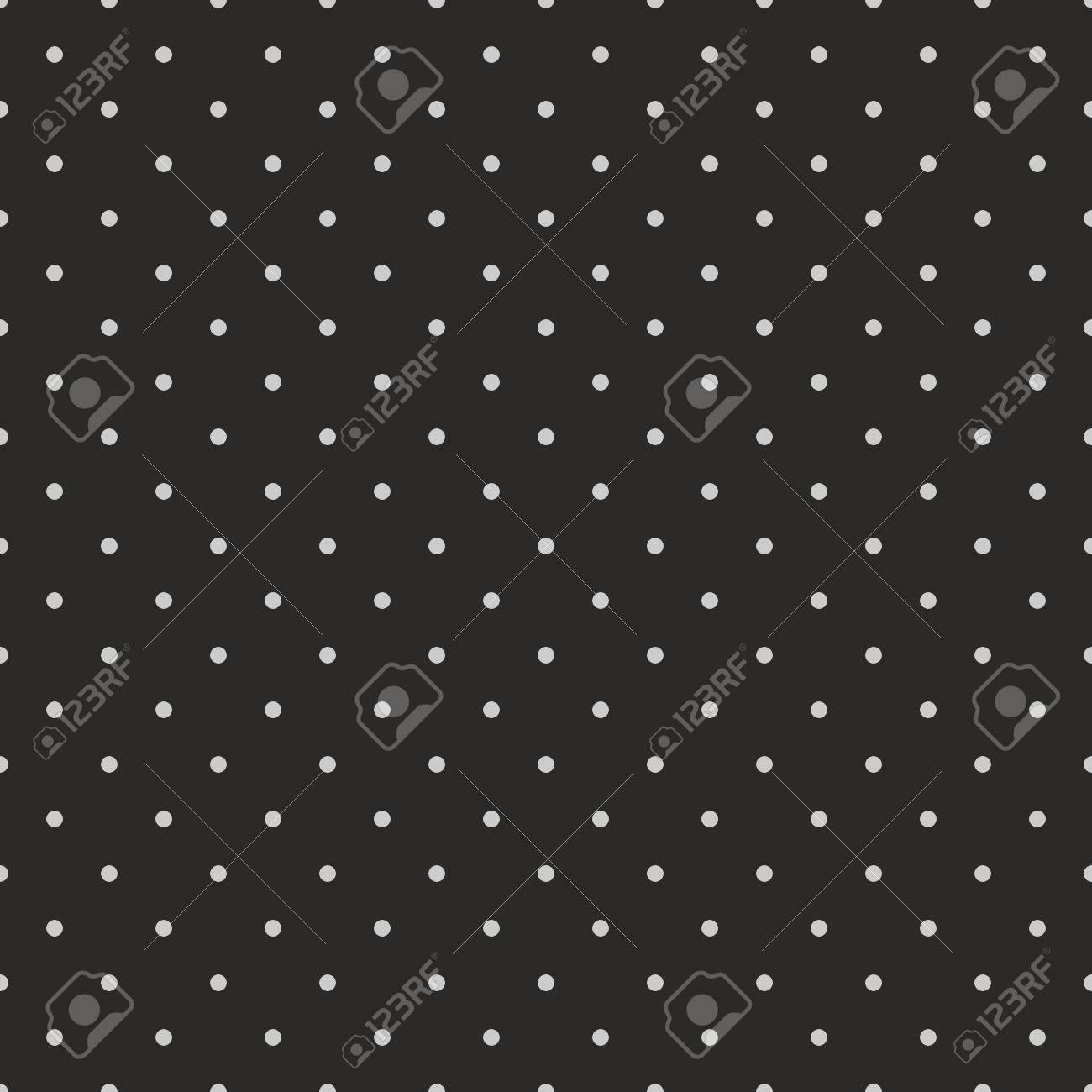 ウェブサイト ウェブ デザイン デスクトップの壁紙 ブログの背景 芸術およびスクラップ ブックのための黒の背景に灰色の水玉とシームレスなベクター パターンのイラスト素材 ベクタ Image