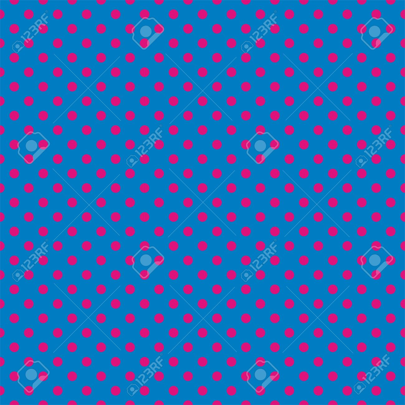 Seamless Vector Pattern With Neon Pink Polka Dots On A Dark Blue Royalty Free Cliparts Vectors And Stock Illustration Image 31248711