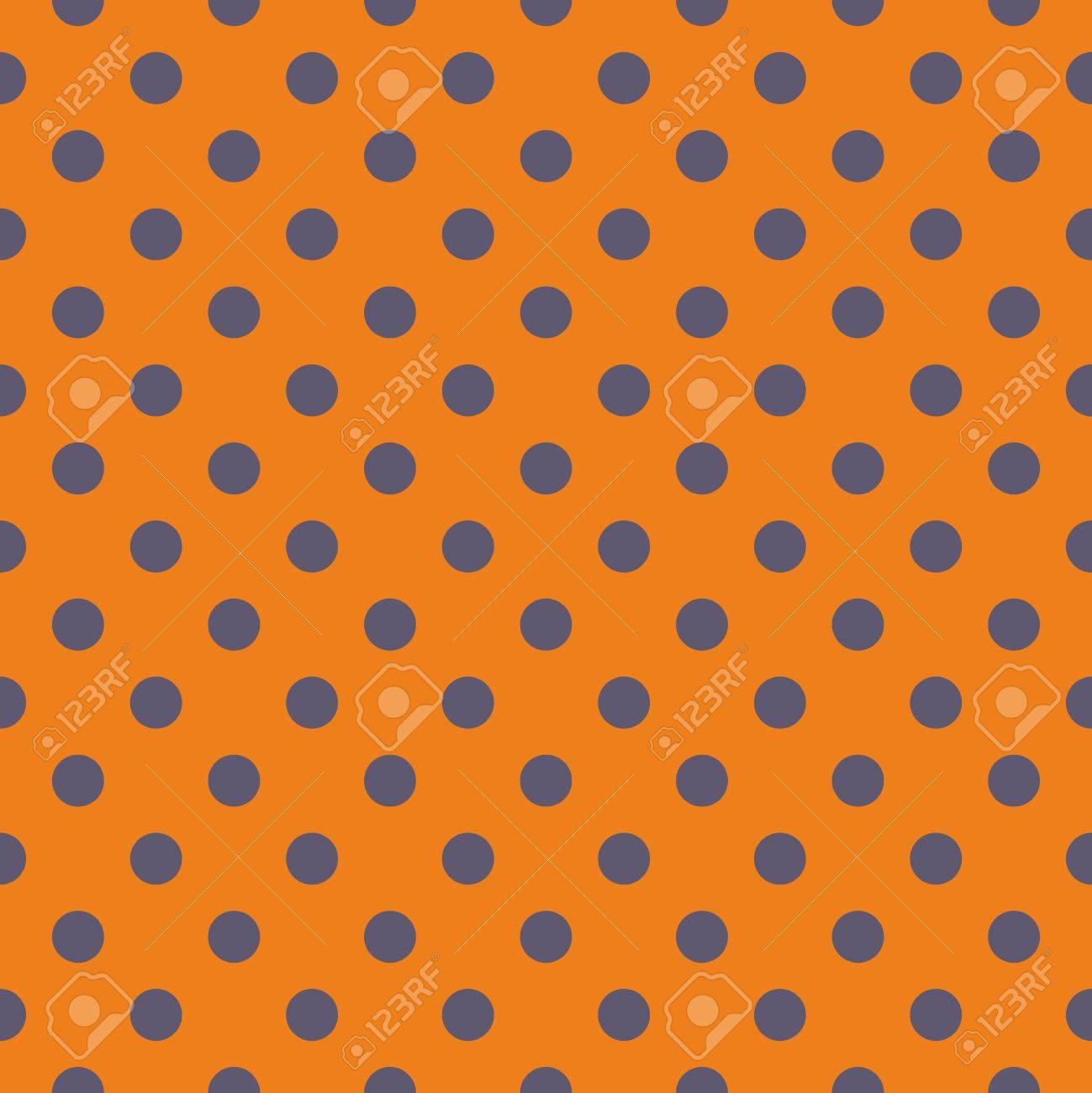 Modele Vectoriel De Carreau Avec Pois Gris Sur Fond Orange Pour Le