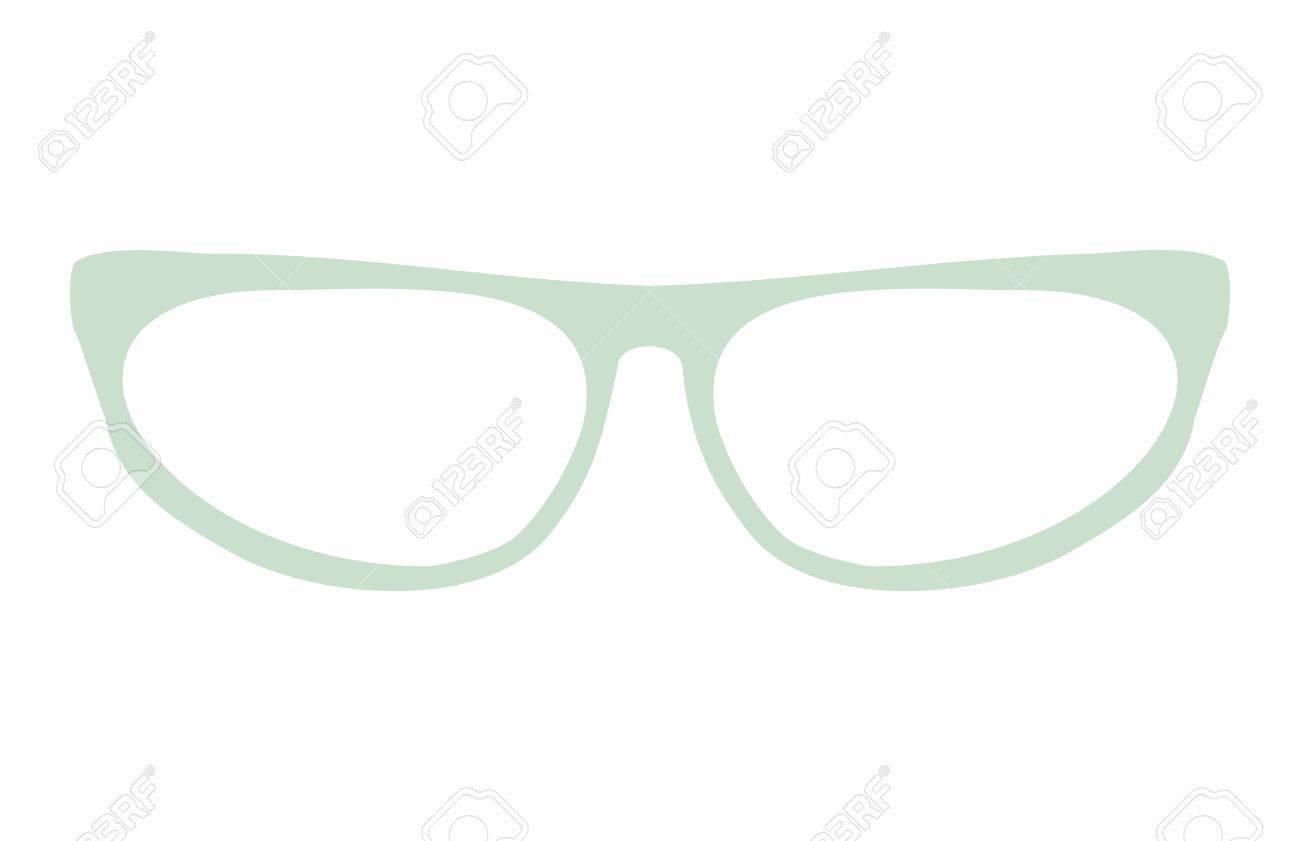 Grüne Katzenaugen Brille Vektor-Illustration Isoliert Auf Weißem ...