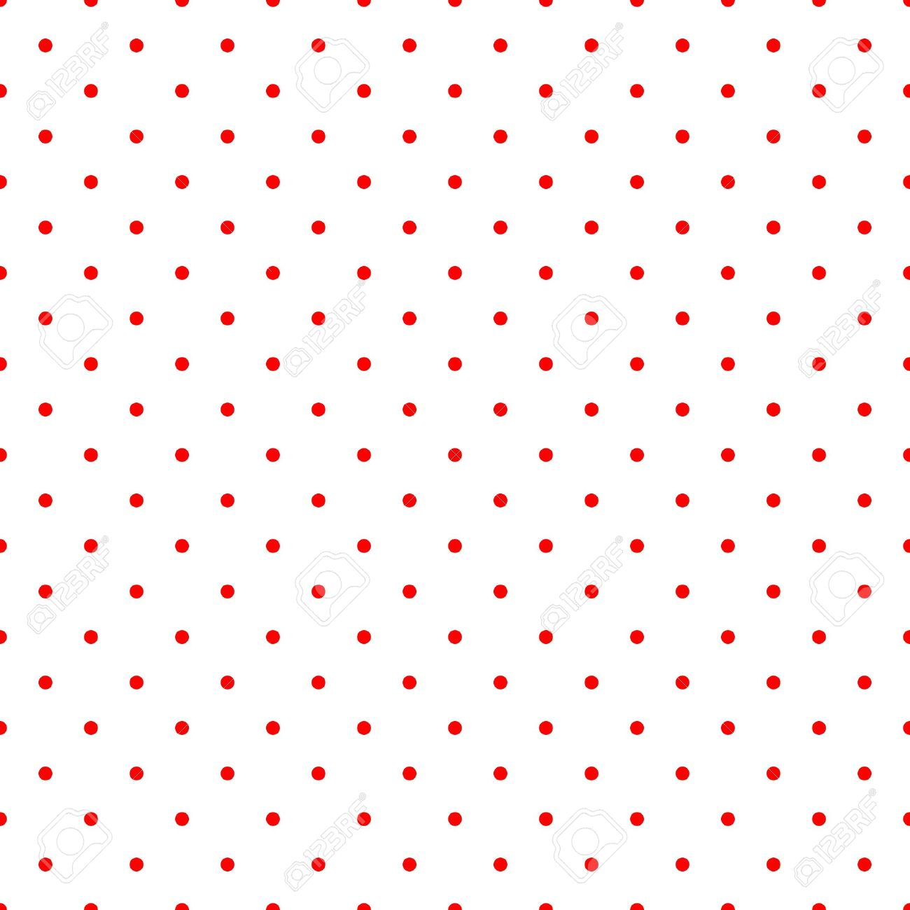 Retro Vector Tile Pattern With Small Red Polka Dots On White Background For Decoration Wallpaper Stock