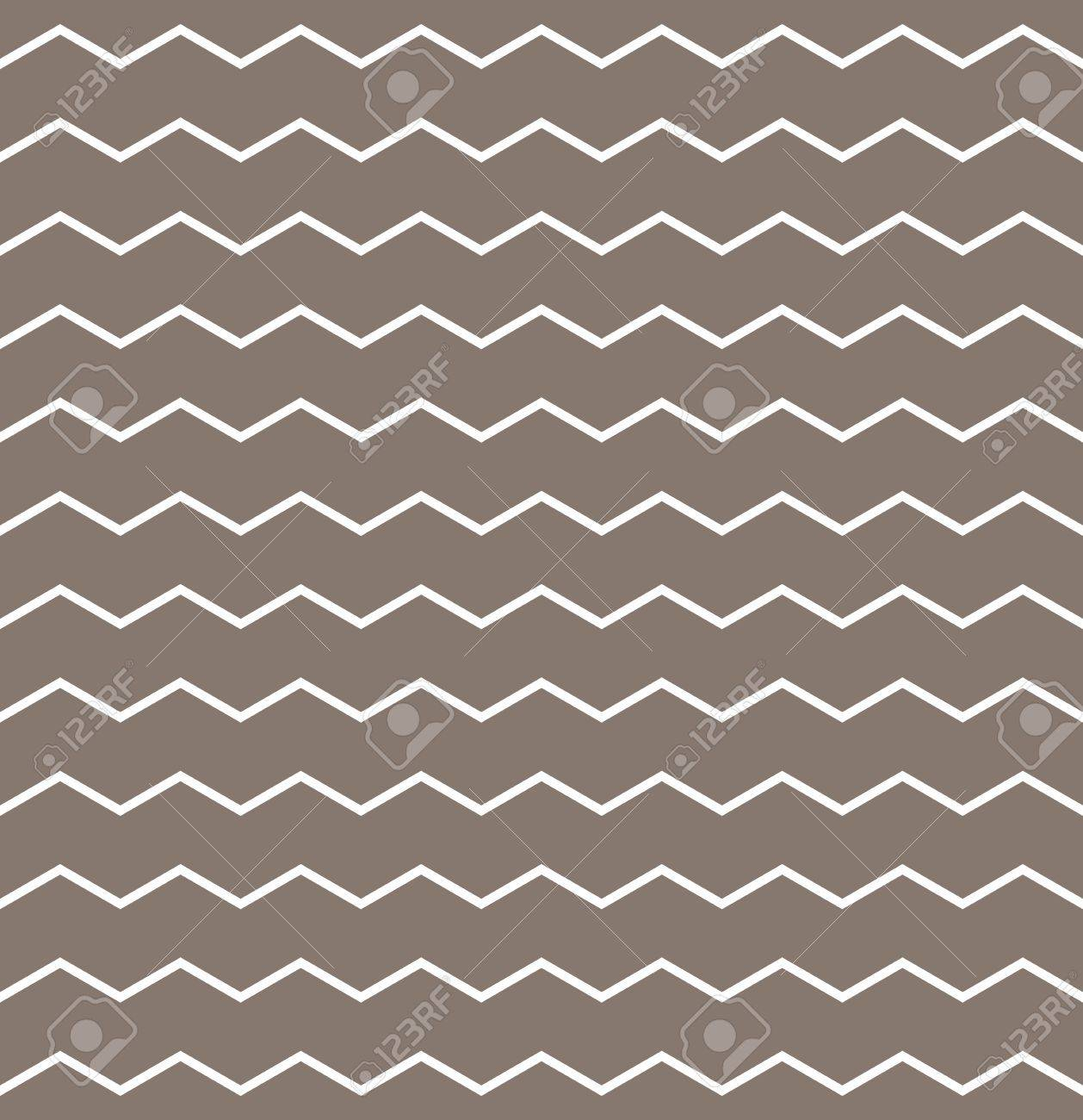 Zig Zag Chevron Vector Pattern With White Fabric On Brown ...