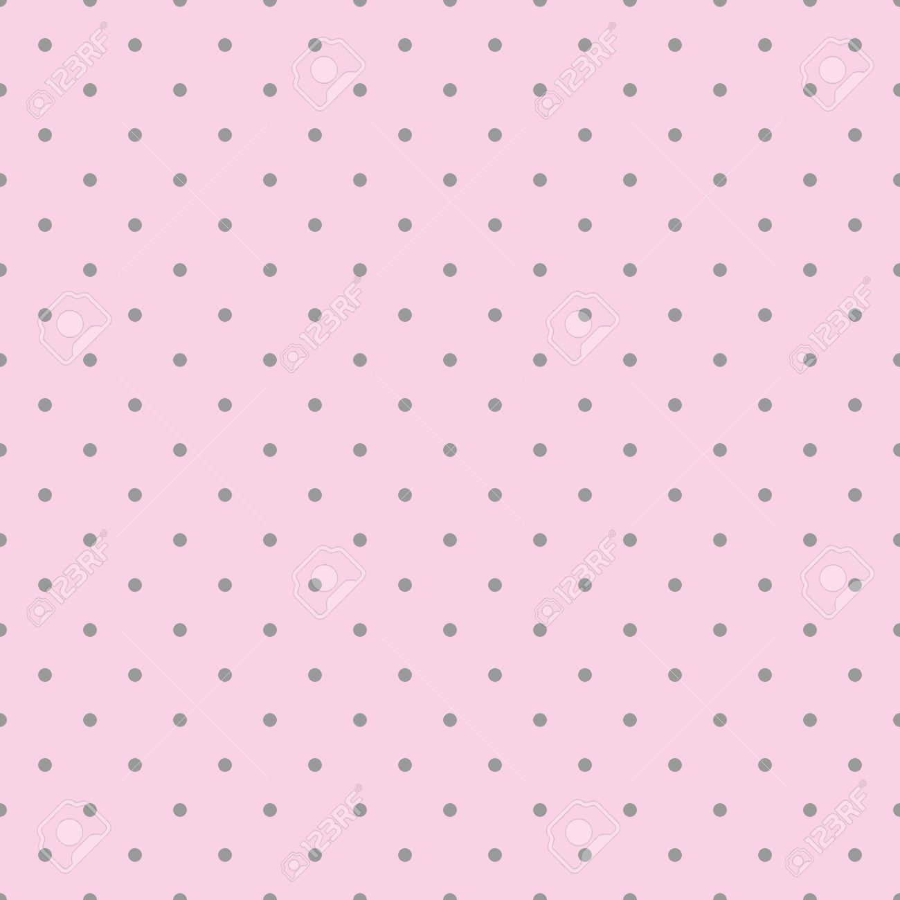 Modelo Inconsútil Del Vector De Color Rosa Con Lunares De Color Gris ...