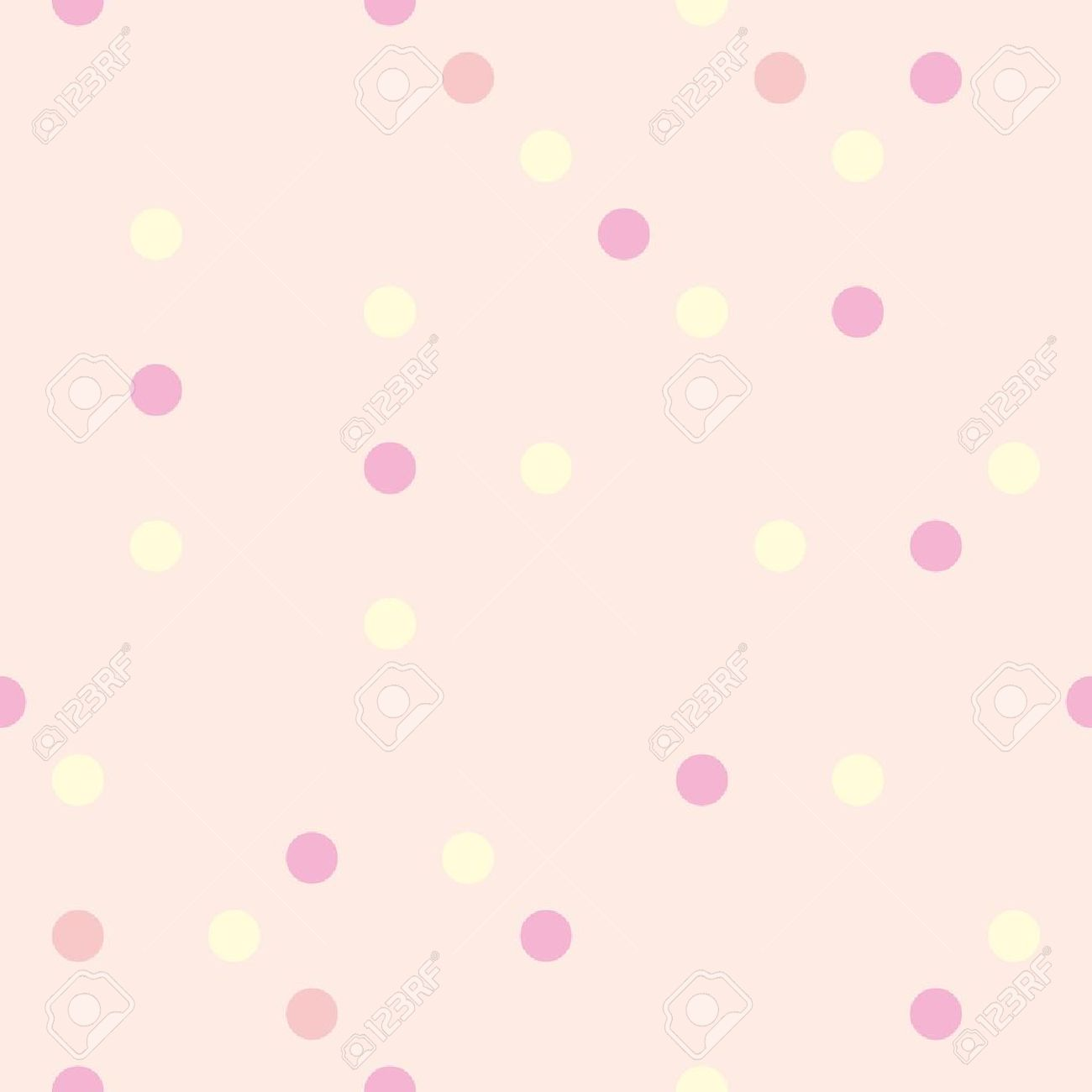 Colorful Vector Background With Yellow Red And Pink Polka Dots
