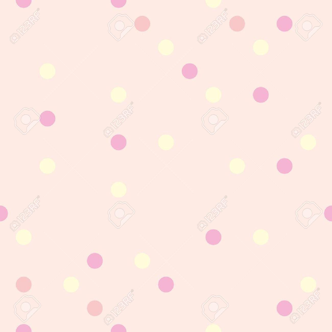 Vettoriale Vettore Sfondo Colorato Di Giallo Rosso E Rosa Pois Su