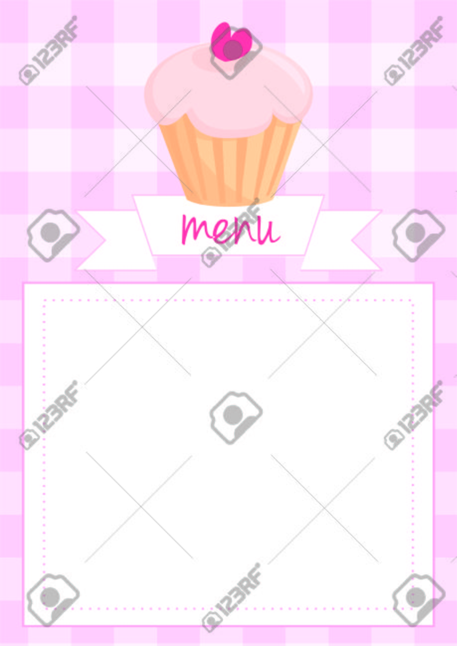 Vector button restaurant menu card list or wedding invitation vector vector button restaurant menu card list or wedding invitation with sweet retro cupcake on pink vintage checkered pattern or grid texture stopboris Images