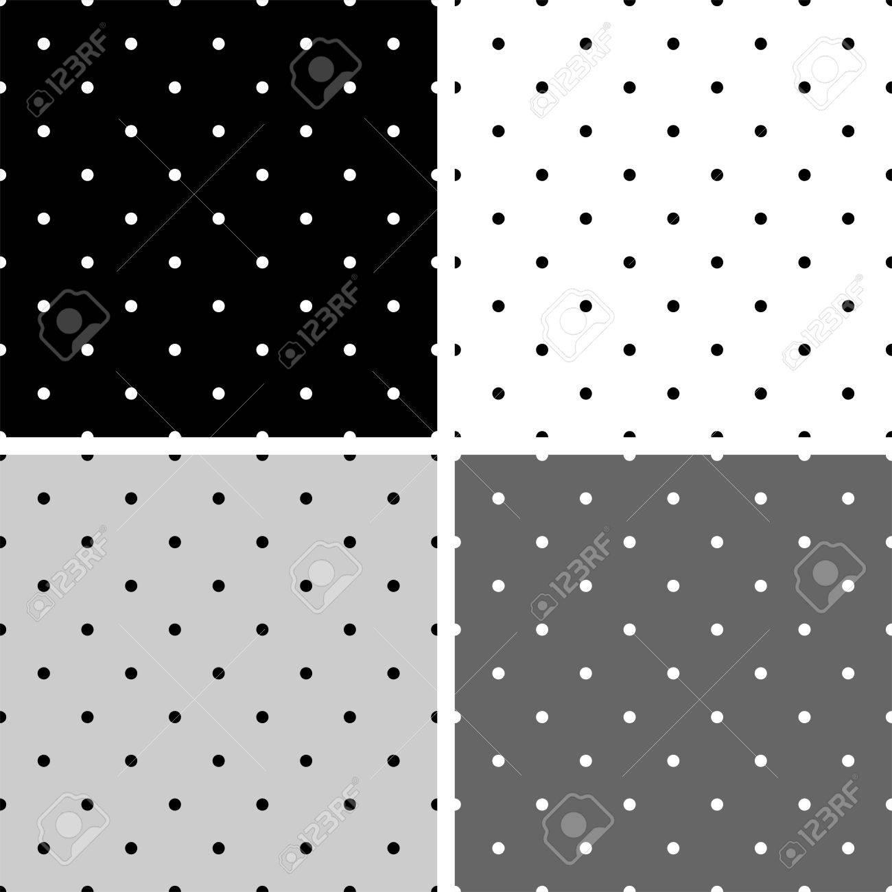 シームレスな黒の白とグレーのベクター パターンや大小の Polkadots で設定背景 デスクトップ壁紙と Web サイト デザイン のイラスト素材 ベクタ Image