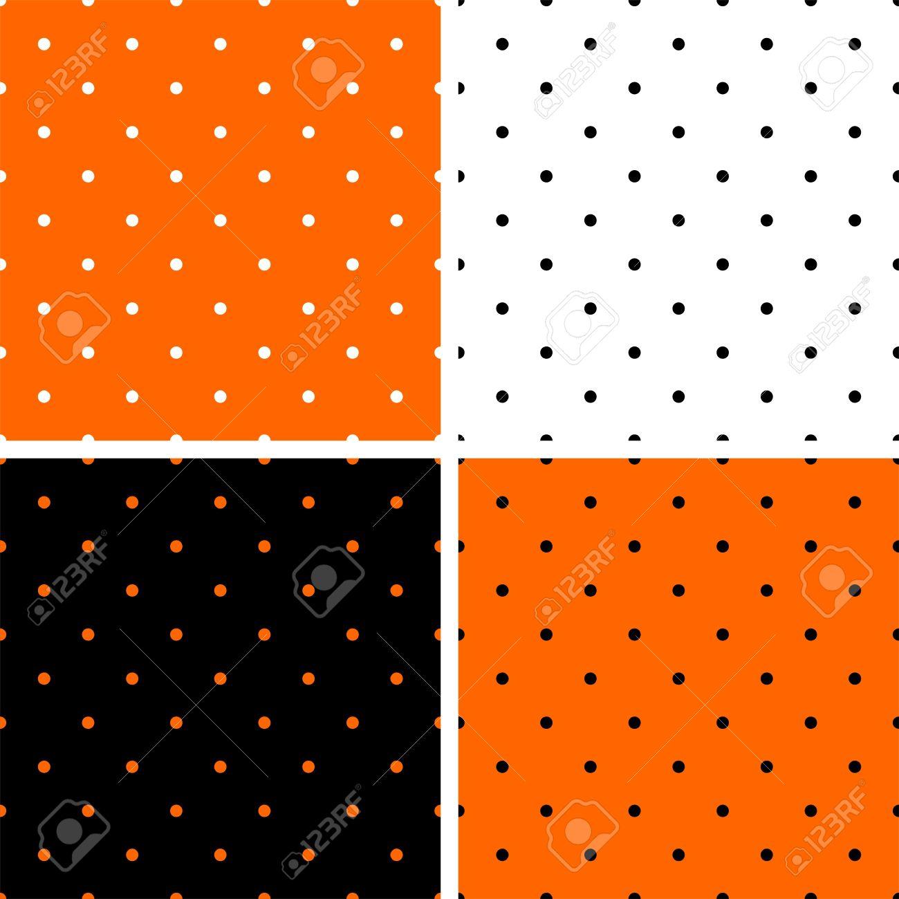 Wonderful Wallpaper Halloween Polka Dot - 44858968-polka-dots-orange-black-and-white-background-set-tile-decoration-wallpaper-or-autumn-vector-pattern-  HD_2110078.jpg