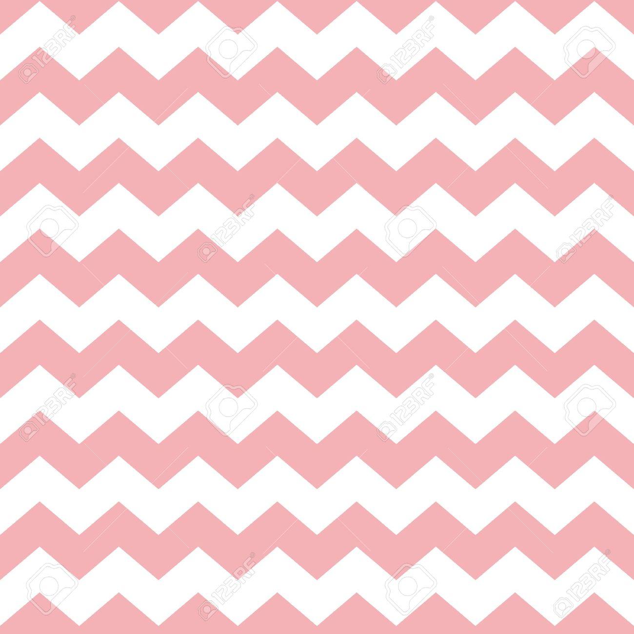 Tile Pastell Vektor-Muster Mit Weißen Und Rosa Zickzack-Hintergrund ...