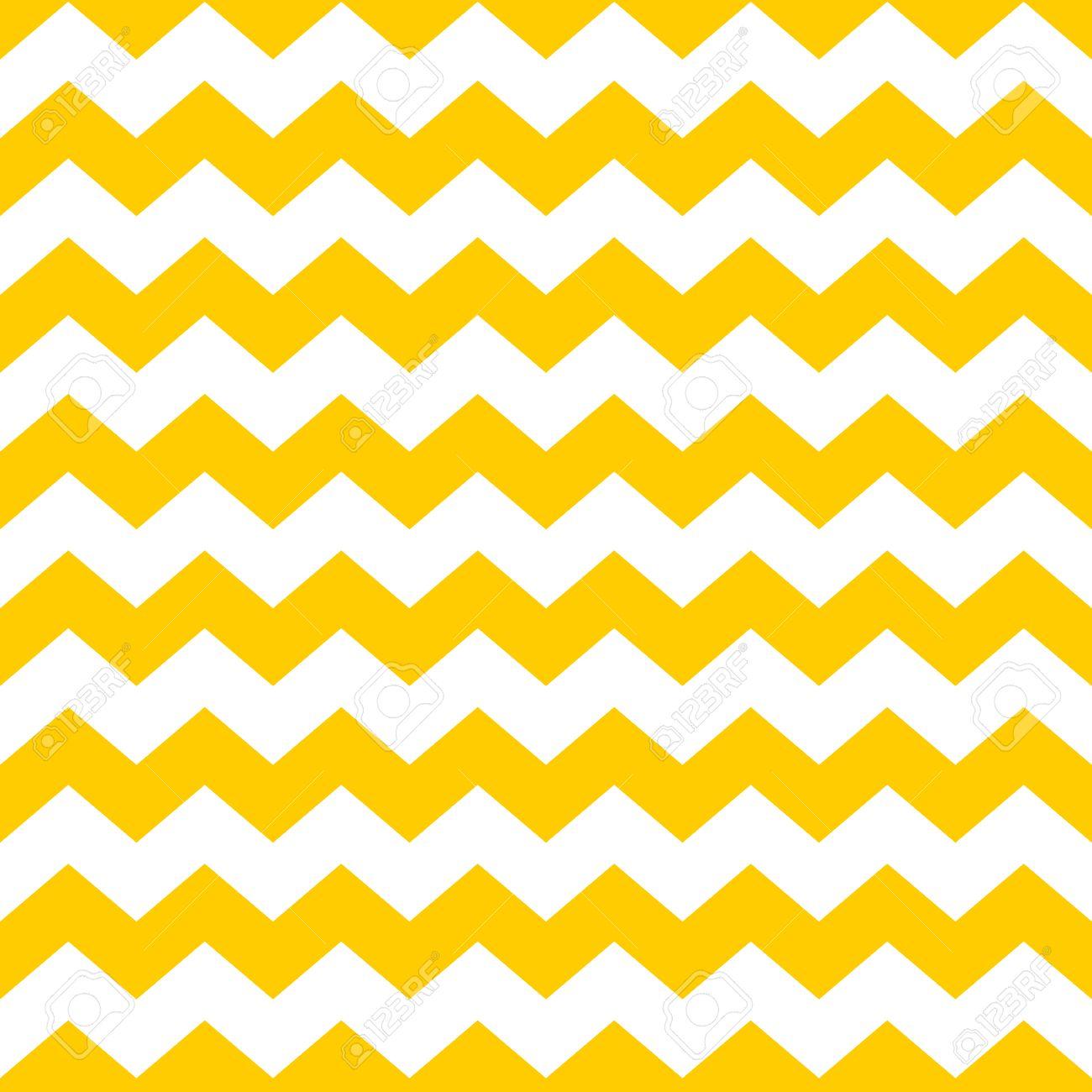Tile Chevron-Vektor-Muster Mit Gelben Und Weißen Zick-Zack ...