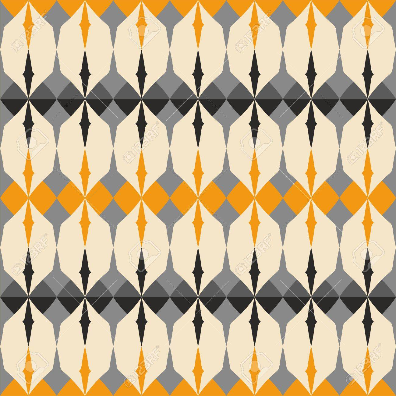 46114487 tile gray black and orange vector pattern with geometric decoration background wallpaper