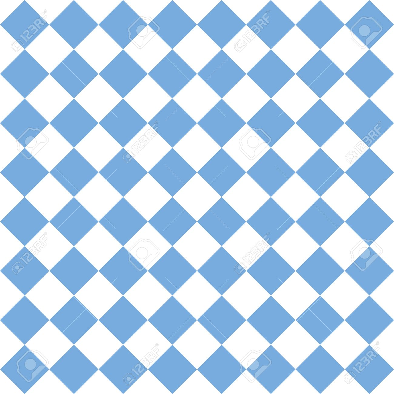 Checkered Tile Vector Pattern Or Blue And White Wallpaper Background Stock
