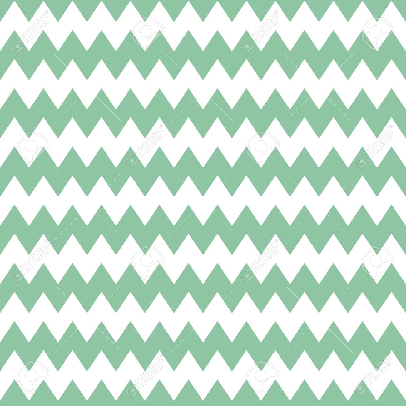 Tile Pattern With Mint Green Zig Zag Print On White Background ...