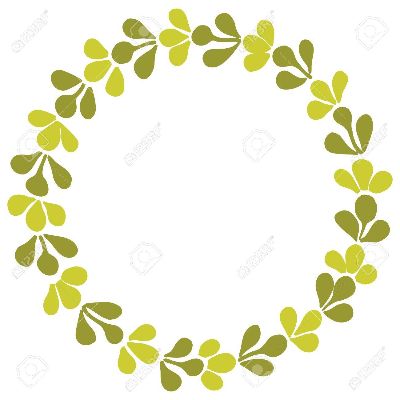 green laurel wreath vector frame isolated on white background rh 123rf com free vector frame download free vector frame corners