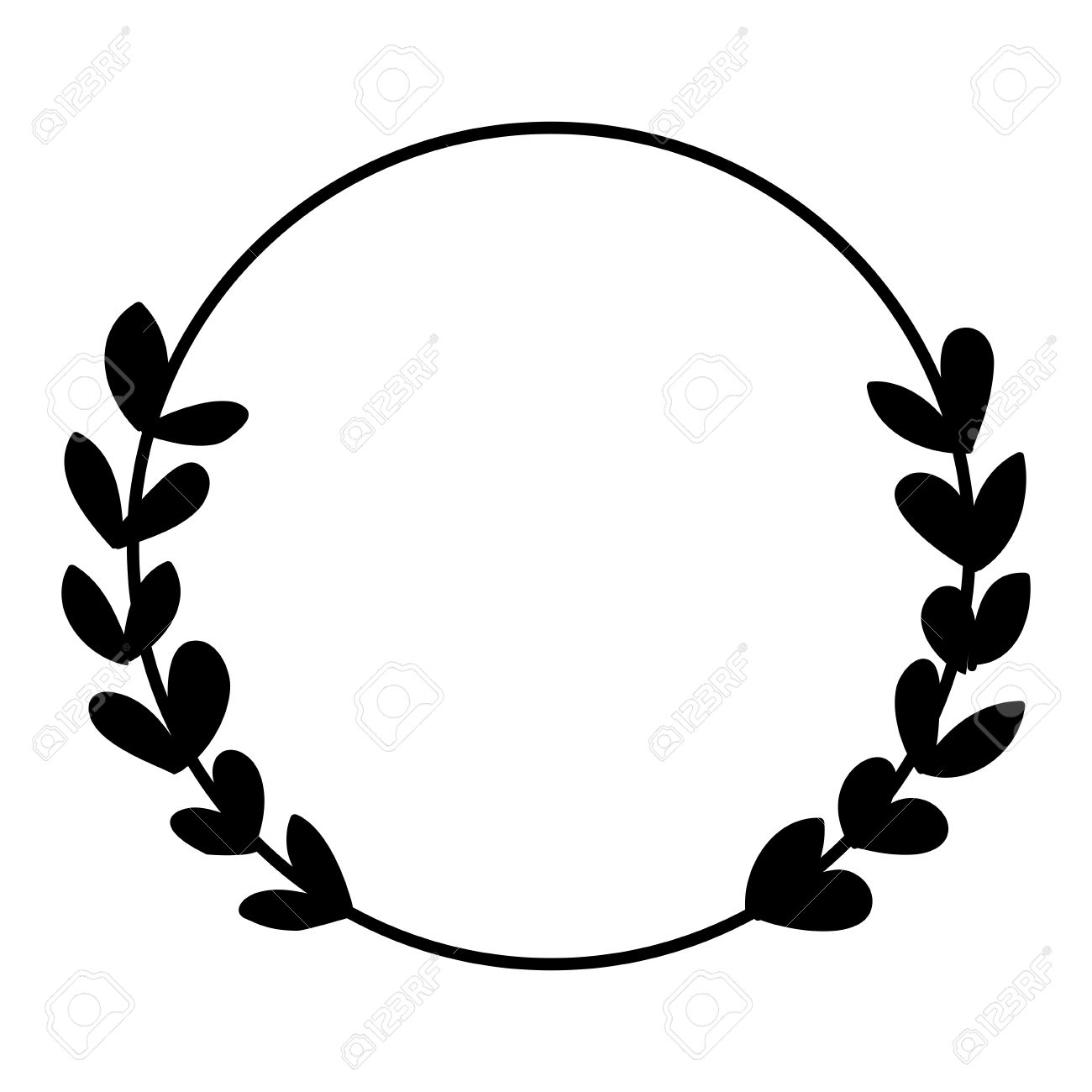 laurel wreath black and white photo vector frame isolated on rh 123rf com wreath clip art black and white free