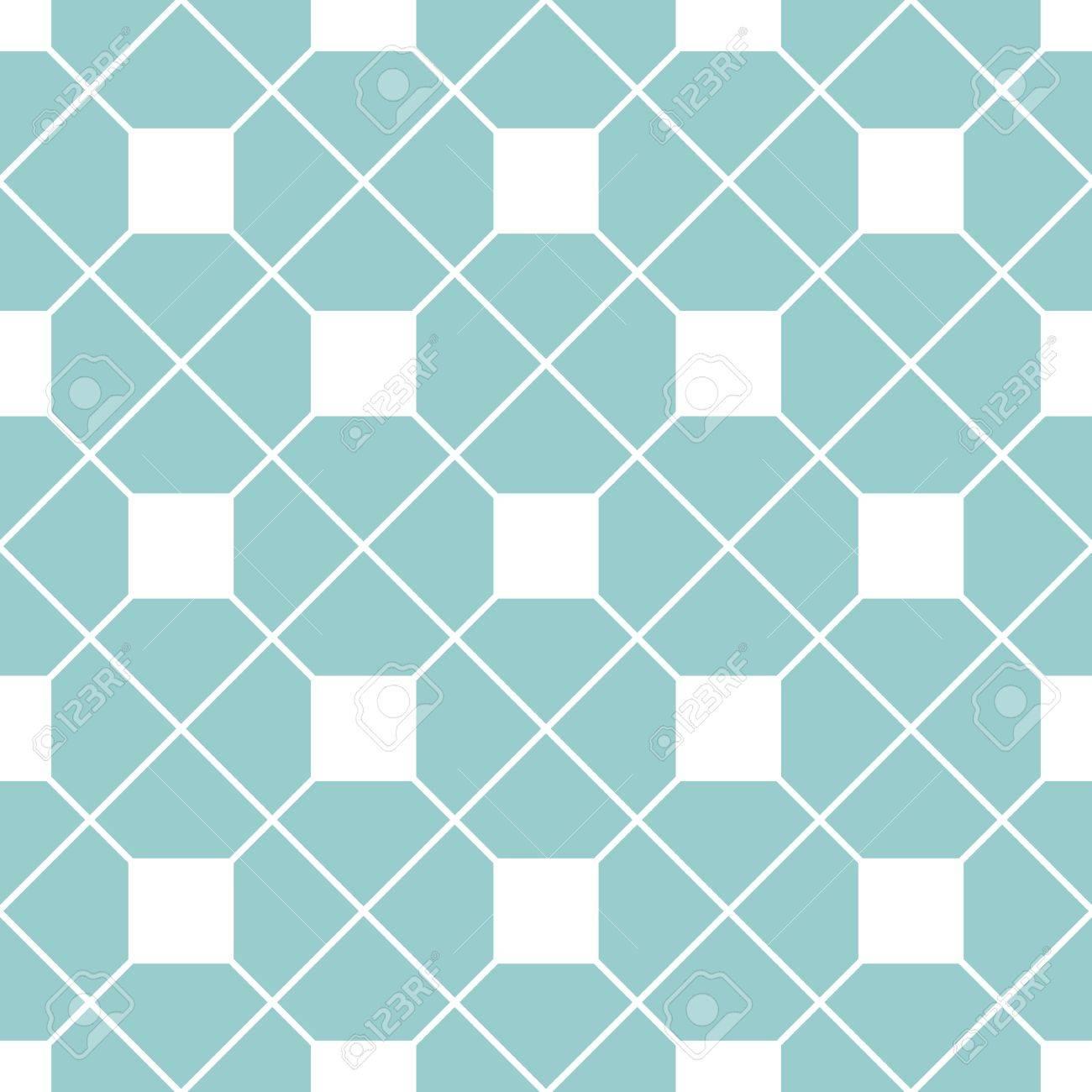 市松模様のタイル パターンやミント グリーンと白の壁紙の背景の