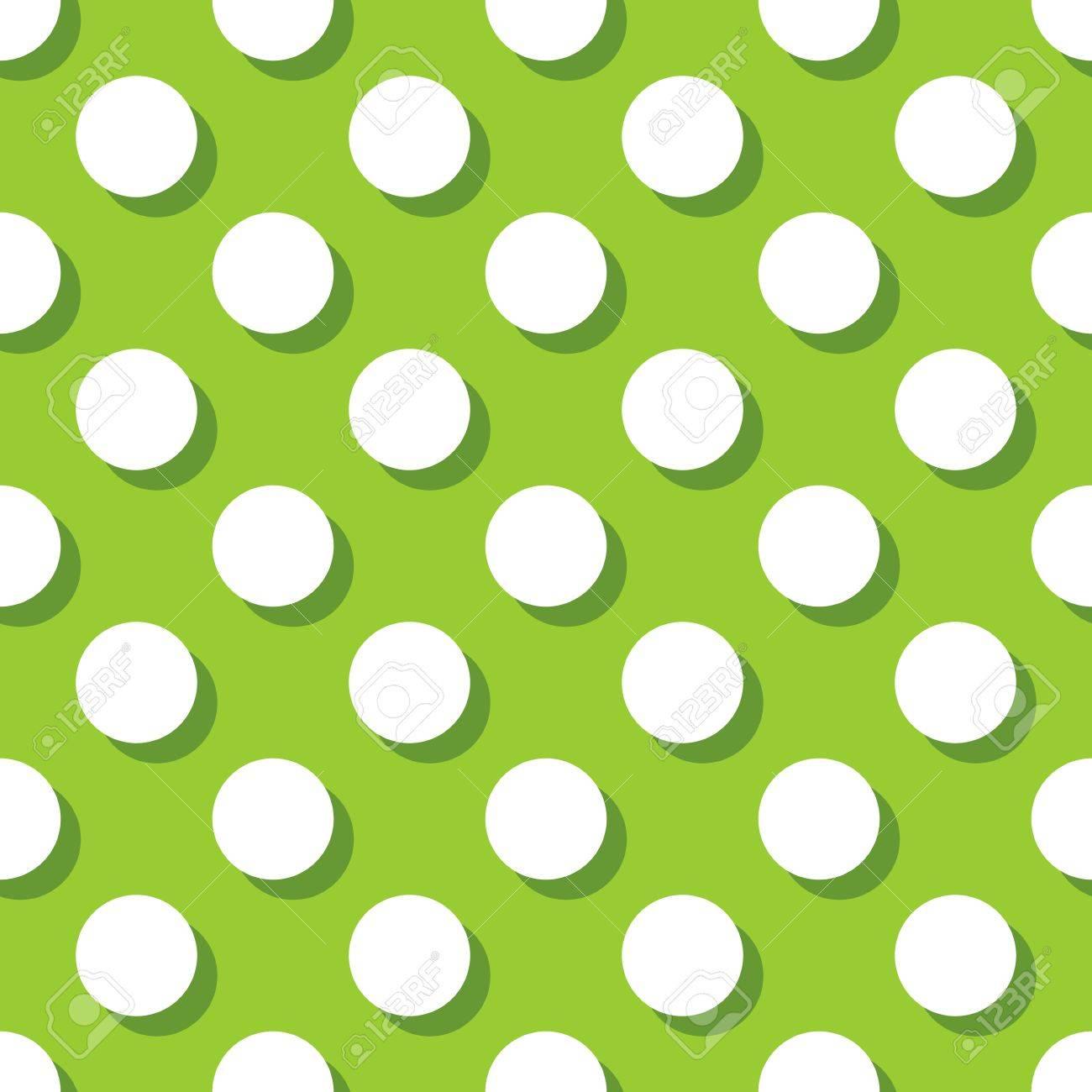 Patrón De Mosaico Con Grandes Lunares Blancos Con Sombra Sobre Fondo ...