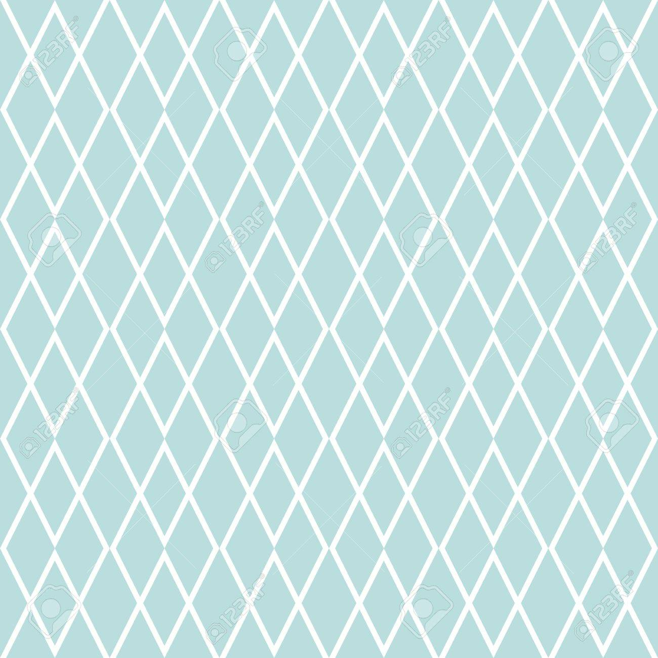 Tile Vector Pattern Or Mint Green And White Wallpaper Background Stock