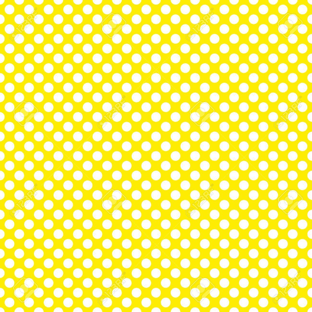 Patrn de mosaico del vector con lunares blancos sobre fondo foto de archivo patrn de mosaico del vector con lunares blancos sobre fondo amarillo altavistaventures Choice Image