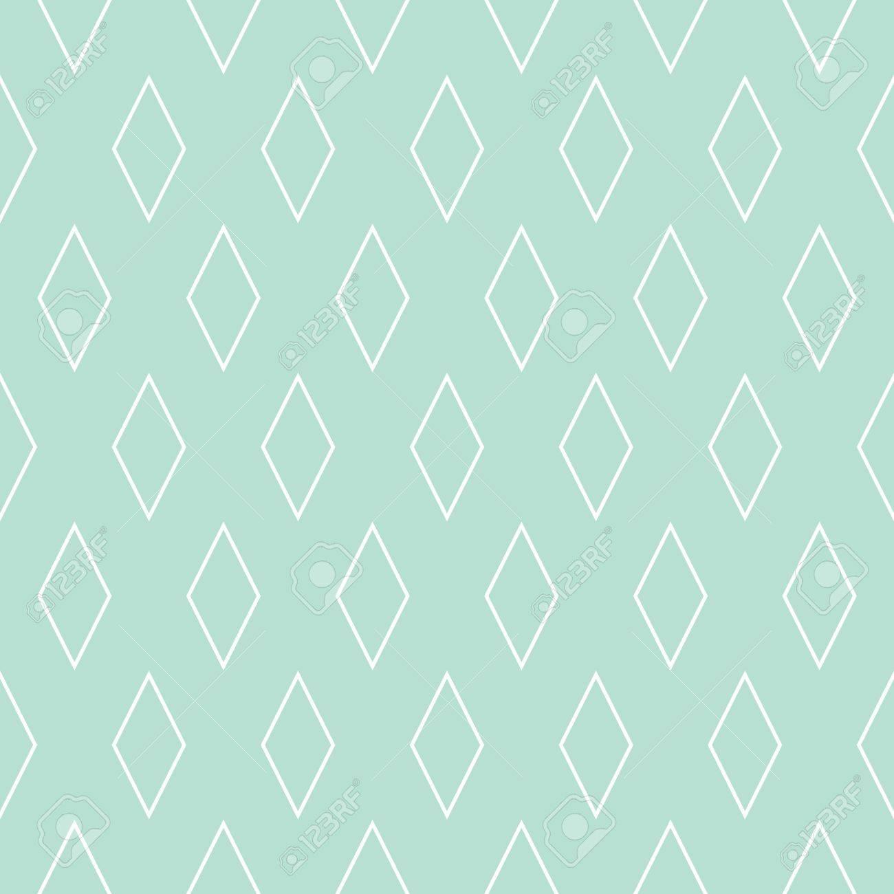 タイル パターンやミント グリーンと白の壁紙の背景のイラスト素材
