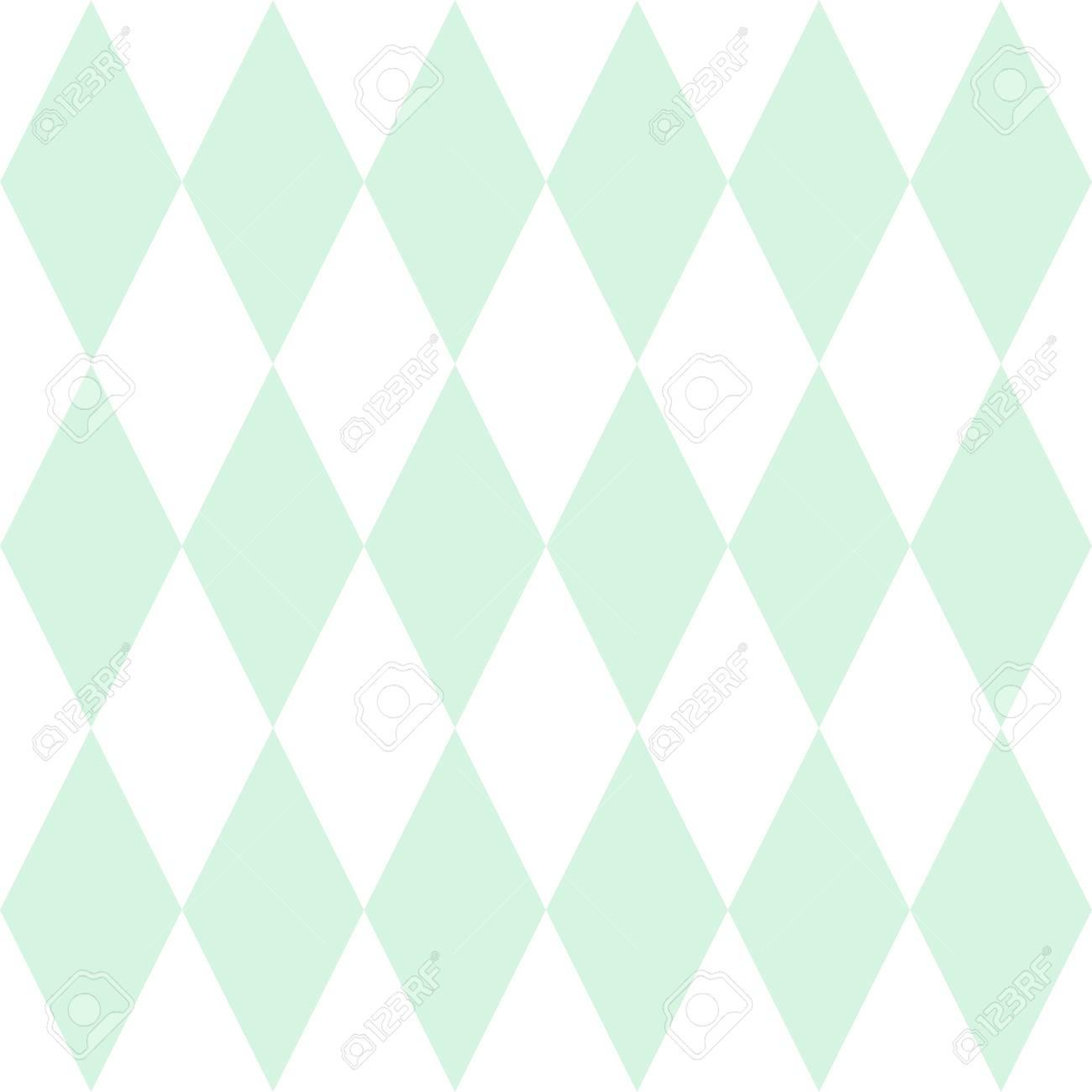 タイル パターン ベクトルまたはミント グリーンと白の壁紙の背景の