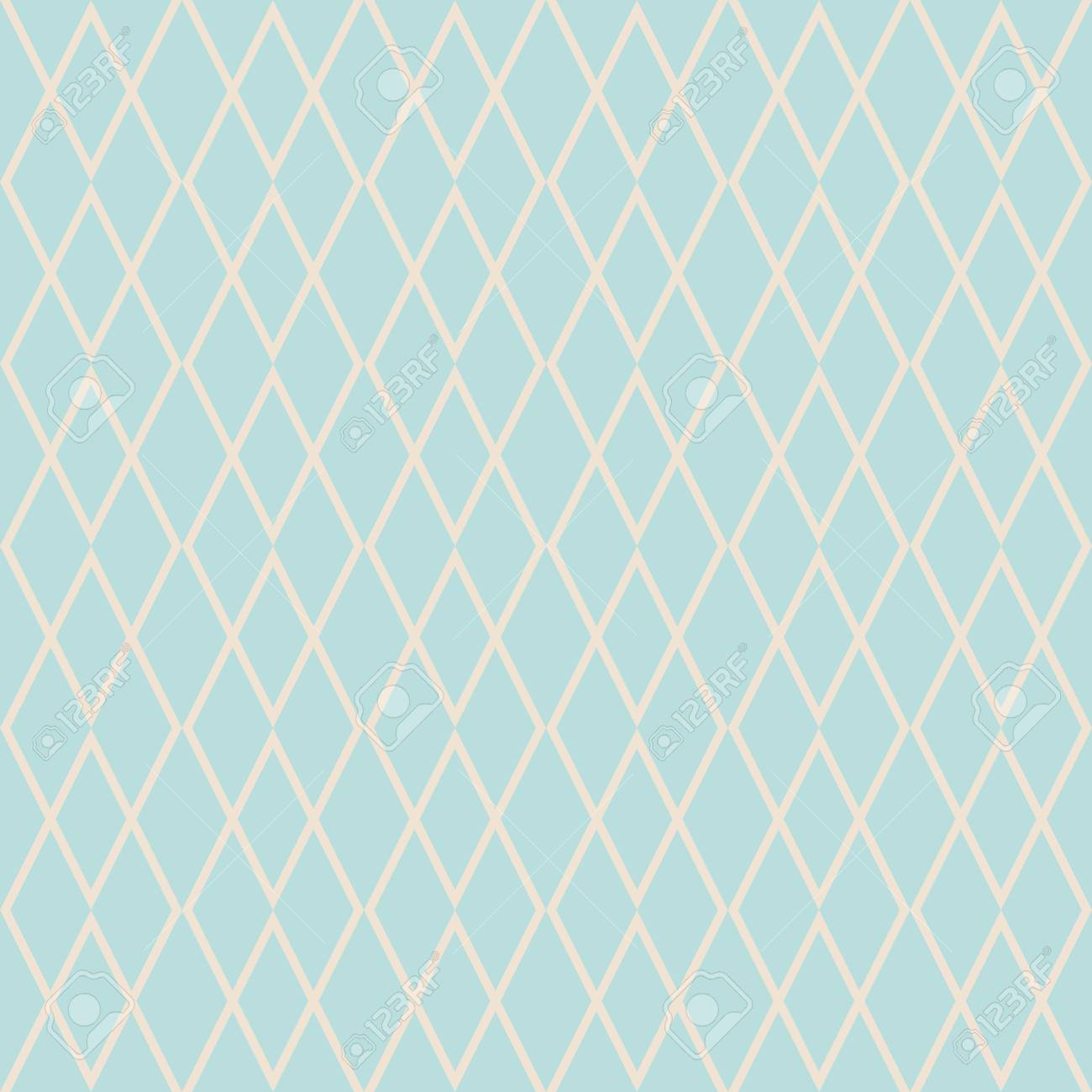 Tile Vector Pattern With Mint Green And Pink Background Wallpaper Stock