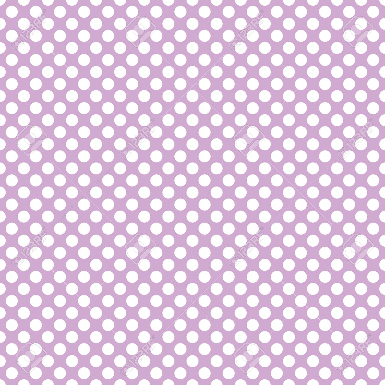 Vettoriale Piccoli Pois Bianchi Modello Piastrella Su Sfondo Viola