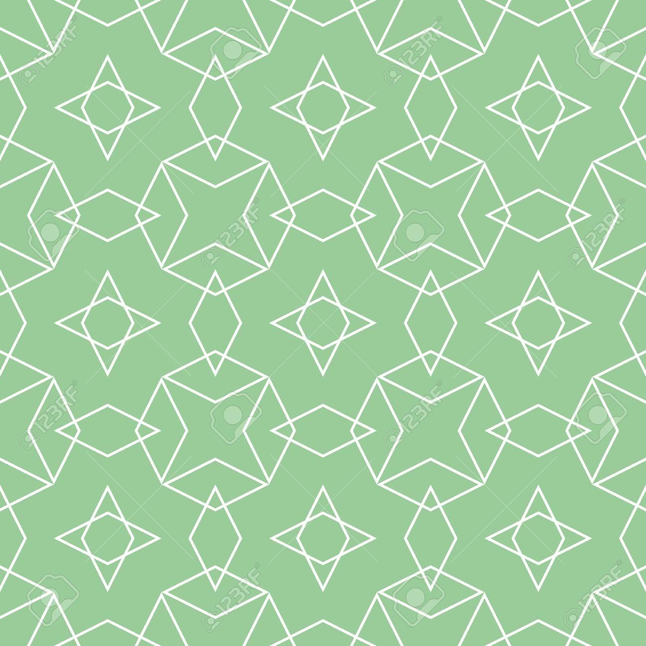 タイル パターン ベクトルまたはミント グリーンと白の壁紙の背景のイラスト素材 ベクタ Image