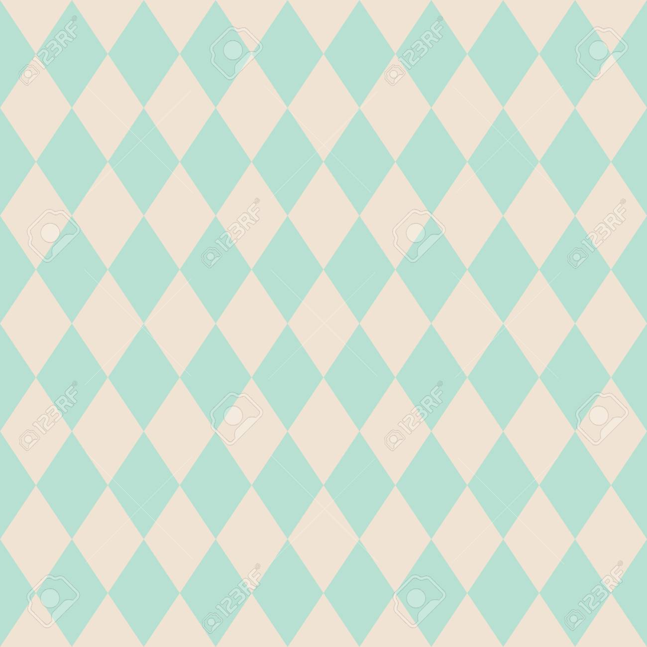Tile Vector Pattern Or Mint Green Wallpaper Background Stock