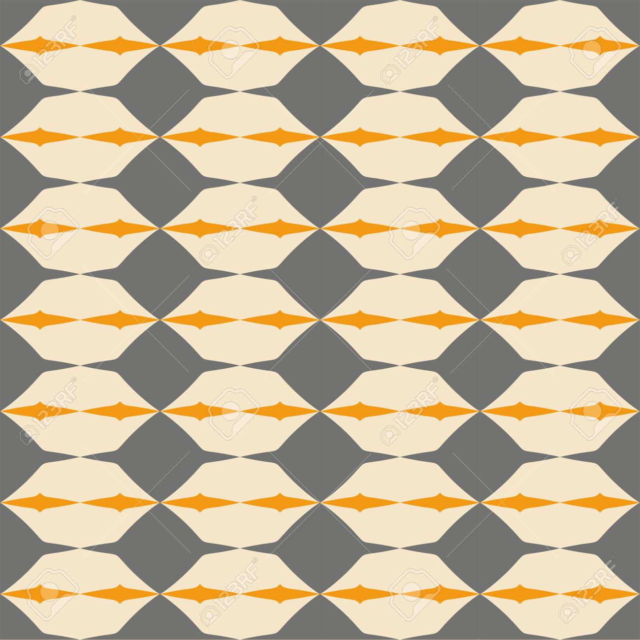 97515608 tile grey black and orange vector pattern with geometric decoration background wallpaper