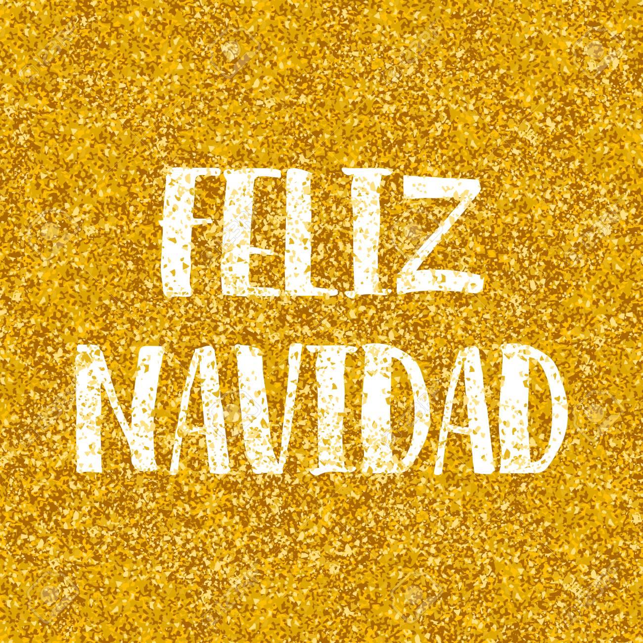 Christmas Wishes In Spanish.Feliz Navidad Merry Christmas Wishes In Spanish Vector Card With