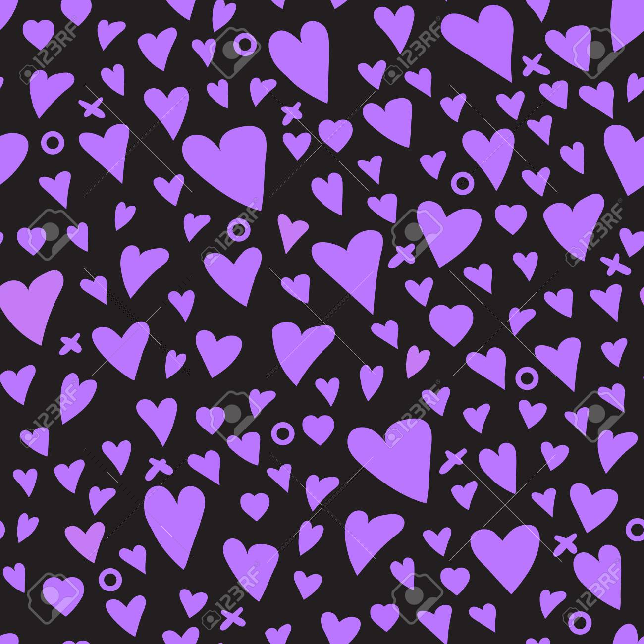 kids girly texture heart purple seamless pattern royalty free rh 123rf com
