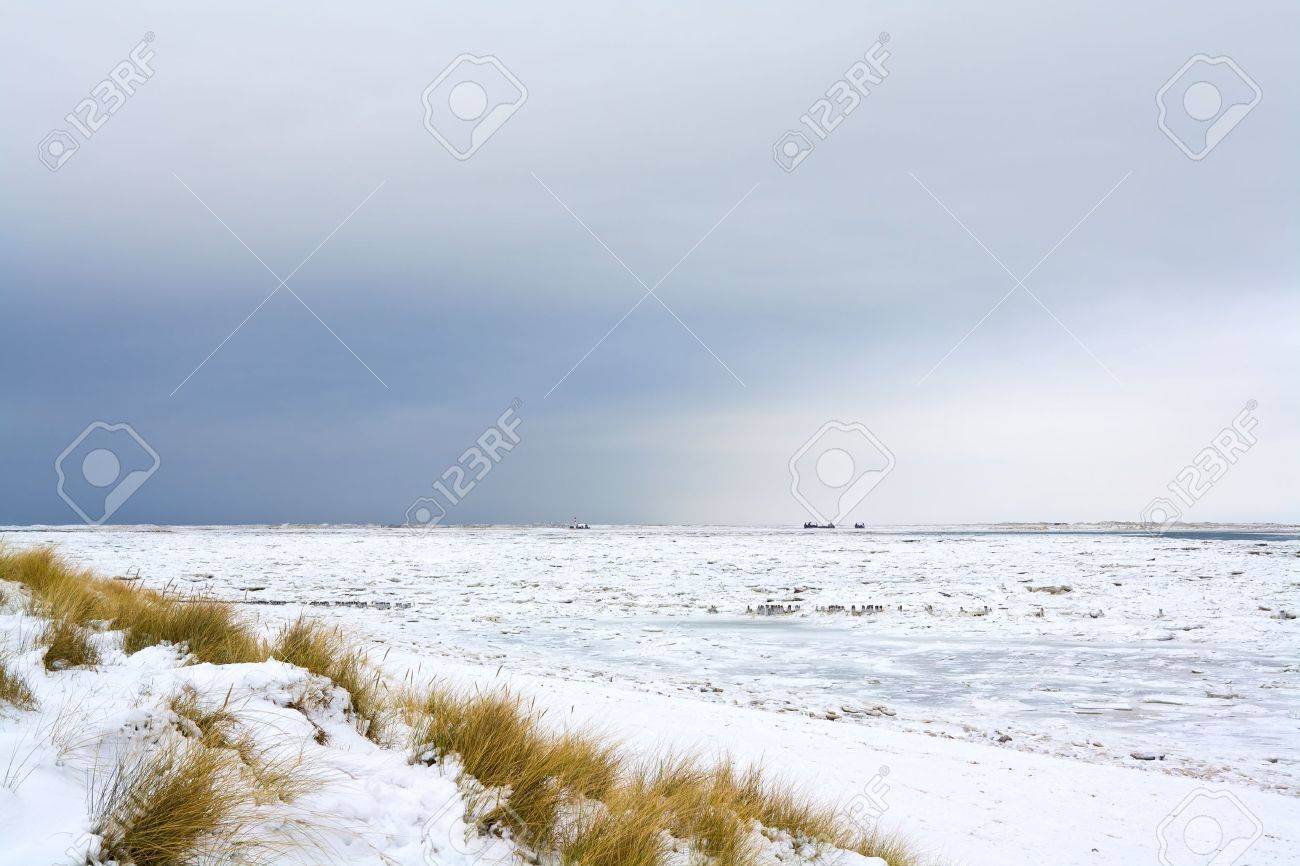 The Island Of Sylt In Northern Germany In Winter Stock Photo