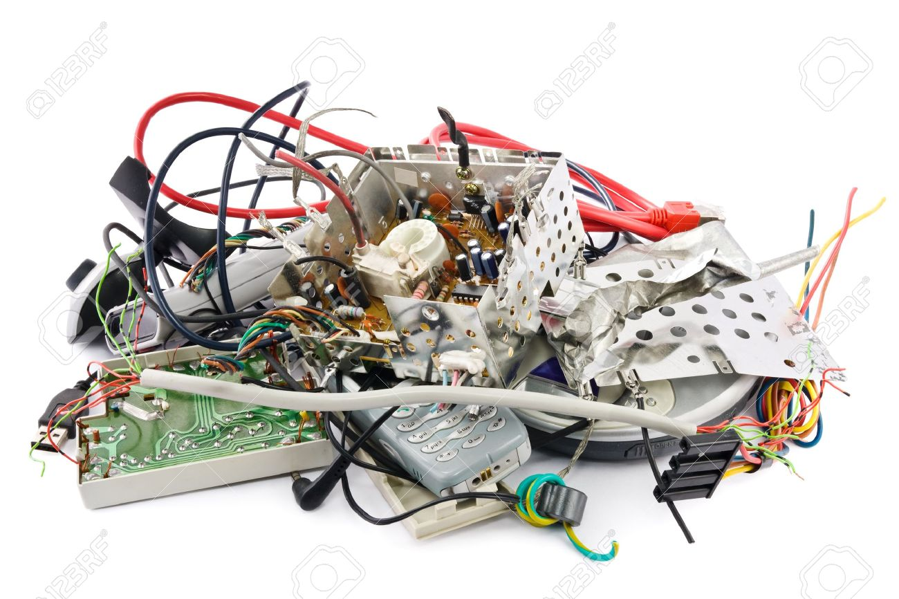 Small heap of mixed electronic waste Stock Photo - 12421226