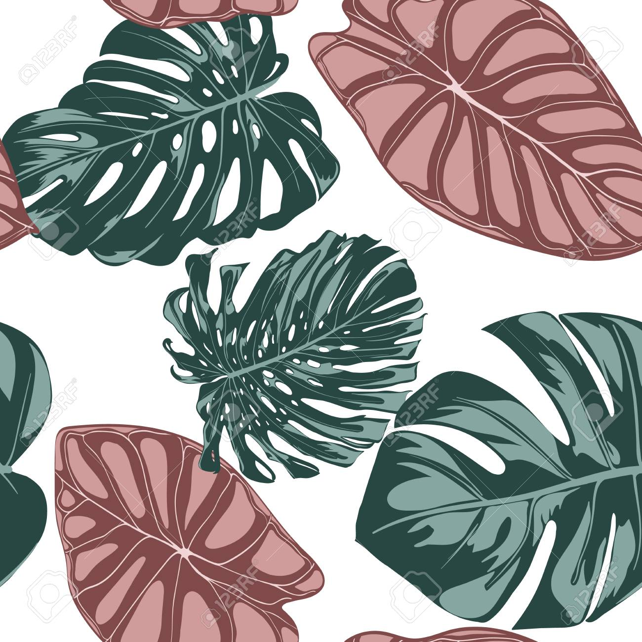 Tropical Jungle Leaves Vector Seamless Pattern Philodendron Royalty Free Cliparts Vectors And Stock Illustration Image 112316656 Check out this fantastic collection of jungle leaves wallpapers, with 51 jungle leaves background images for your a collection of the top 51 jungle leaves wallpapers and backgrounds available for download for free. tropical jungle leaves vector seamless pattern philodendron