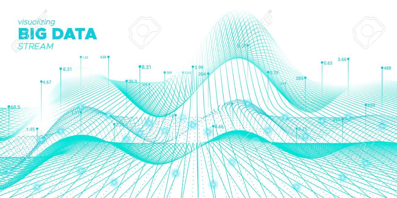 Data Tech. Fluid Futuristic Background. Industry Fractal. Fluid Complex Big Data. White Virtual Effect. Business Background. Fluid Coding Fractal. Vector Big Data. Tech Movement. - 133537645