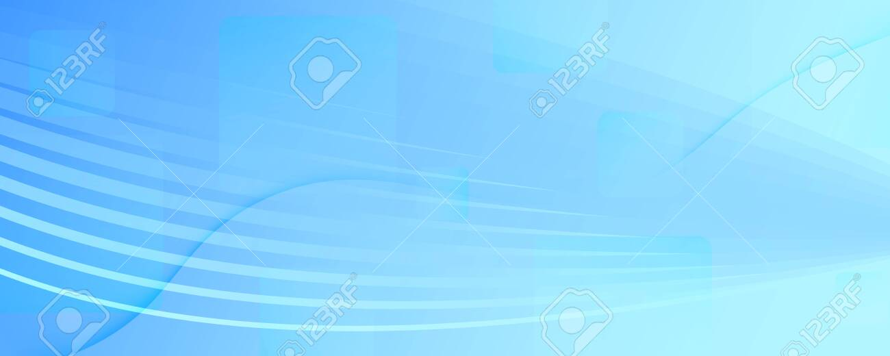 Blue Gradient Background. 3d Flow Lines Banner. Curve Technology Wallpaper. Light Geometric Magazine. Gradient Background. Fluid Vibrant Design. Abstract Brochure. Gradient Background. - 145650361