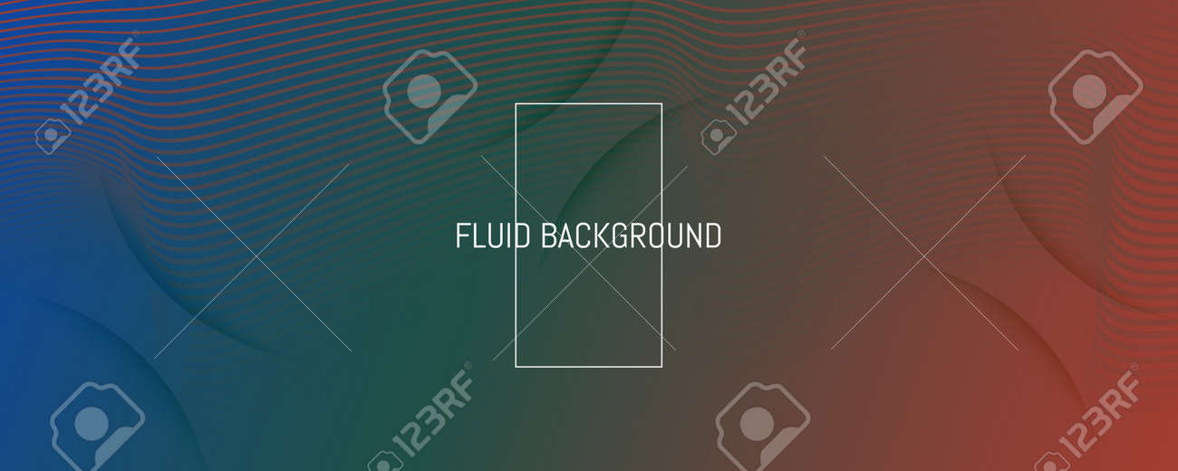 Flow Geometric Abstract. Vivid Futuristic Line Movement. Green Business Poster. Graphic Gradient Magazine. Fluid Concept. 3d Wave Background. Dynamic Geometric Abstract. Color Lines. - 158874367