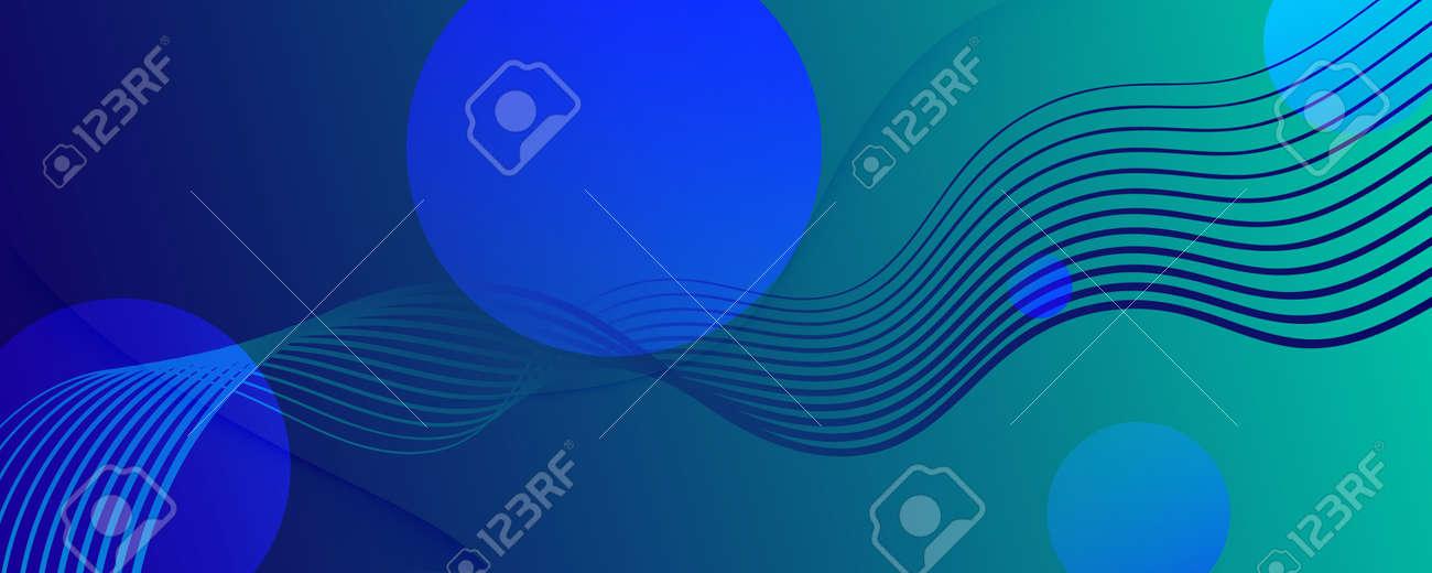 Blue Dynamic Wave. Flow 3d Motion. Curve Gradient Shape. Dynamic Wave. Graphic Pattern. Fluid Concept. Abstract Movement. Geometric Wallpaper. Dark Minimal Template. Dynamic Wave. - 159603292