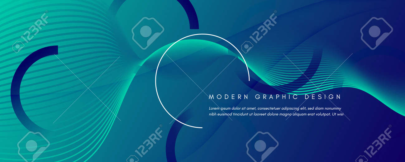 Blue Dynamic Wave. Fluid Abstract Stripes. Vector Gradient Shapes. Dynamic Wave. Modern Brochure. Flow Layout. 3d Landing Page. Futuristic Movement. Dark Technology Website. Dynamic Wave. - 159595831