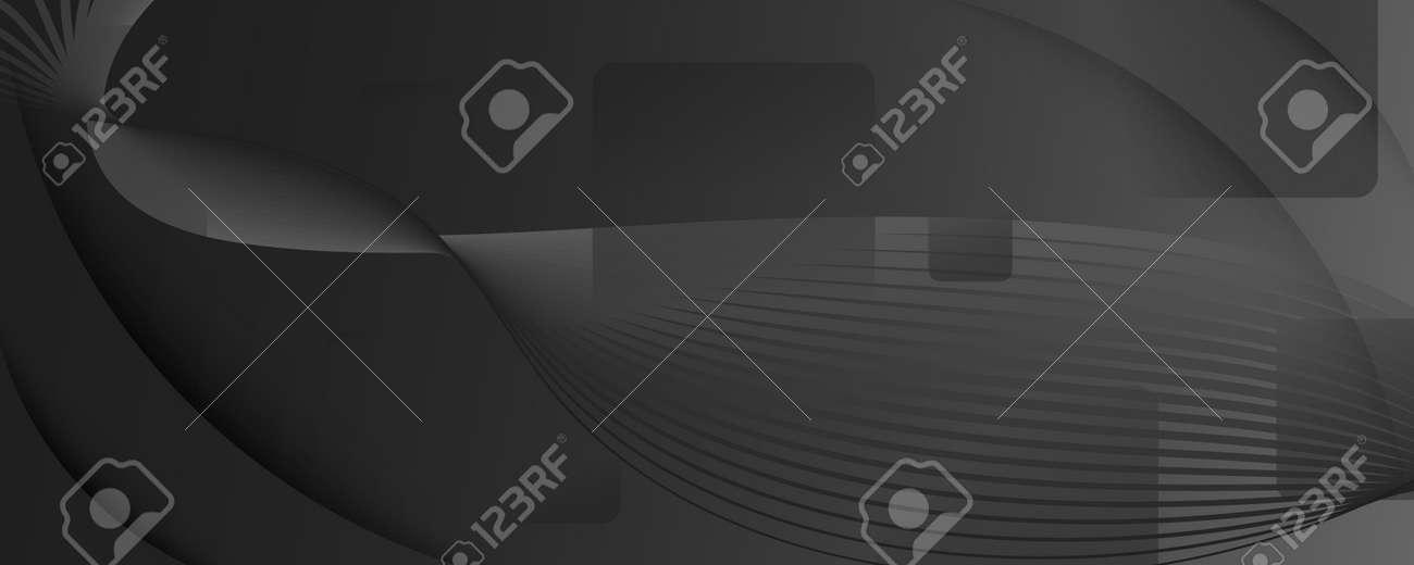 Black Digital Background. Flow Abstract Design. Vector Gradient Shapes. Business Digital Background. Memphis Pattern. Fluid Concept. Dynamic Wallpaper. Digital Background. Gray Template. - 159595791