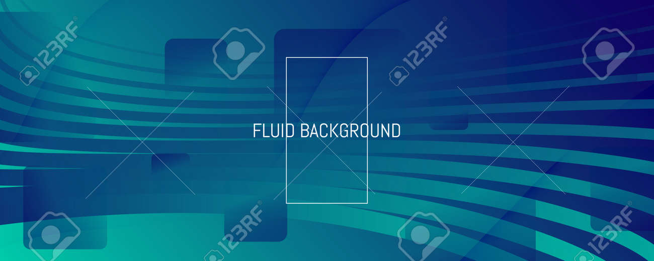 Blue Dynamic Wave. Fluid 3d Flyer. Vector Gradient Shapes. Dynamic Wave. Memphis Pattern. Flow Concept. Abstract Landing Page. Geometric Wallpaper. Dark Business Illustration. Dynamic Wave. - 159603293