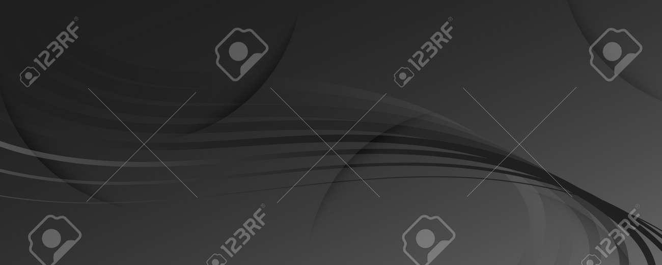 Gray Digital Background. Fluid Abstract Stripes. Curve Dynamic Lines. Business Digital Background. Modern Pattern. Flow Flyer. Gradient Movement. Digital Background. Black Website. - 159603294
