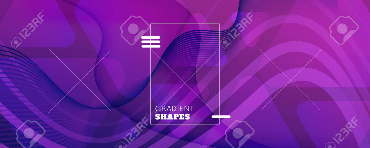 Fluid Background. Abstract Flow Shape Landing Page. Curve Dynamic Texture. Vivid Digital Illustration. Purple Vibrant Design. Futuristic Fluid Background. 3d Poster. Color Fluid Background. - 160004857