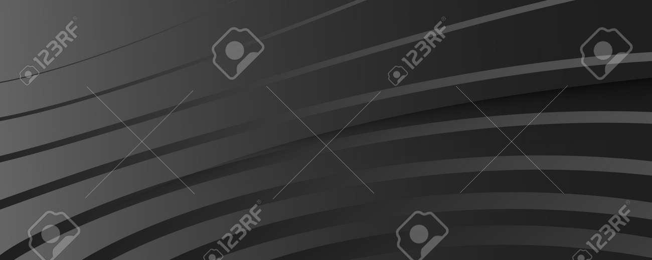 Black Digital Background. Fluid Abstract Flyer. Wave Dynamic Lines. Business Digital Background. Modern Texture. Flow Design. Gradient Movement. Digital Background. Gray Template. - 160004878