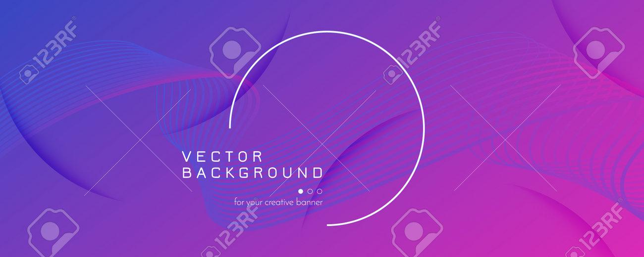 Pink Fluid Stripes. Minimal Motion. 3d Dynamic - 162707139