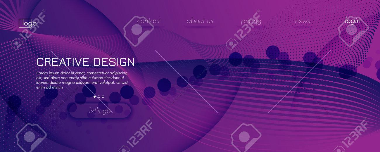Fluid Background. 3d Flow Shapes Movement. Curve - 162707145